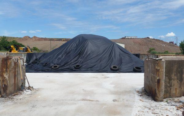 75′ x 75′ Salt Pile Cover