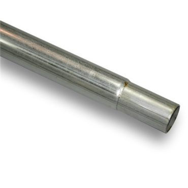 2″ x 24′ Roll Tube Galv Swedged End