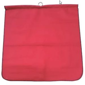 "18"" x 18"" Red Mesh Flag with Dowel (Fluorescent)"