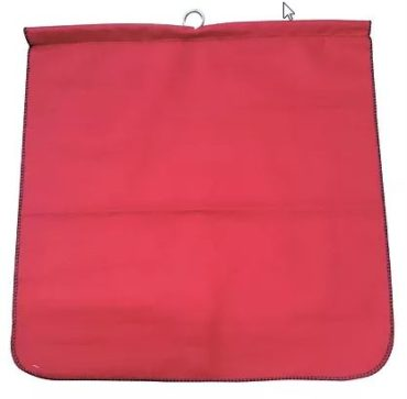 18″ x 18″ Red Cotton Flag with Steel Rod