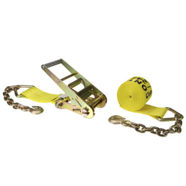4″ x 30′ Ratchet Strap With Chain Anchor end
