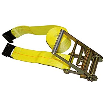 4″ x 30′ Ratchet Straps with Flat Hook 5400# WLL