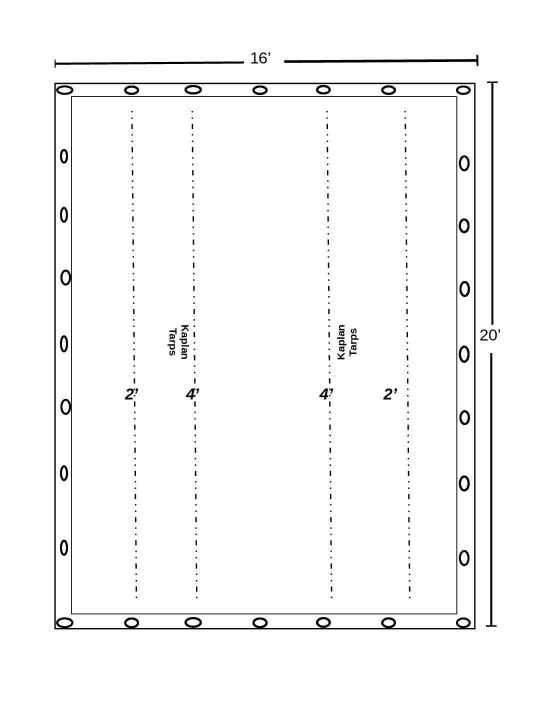 16′ x 20′ Steel Tarp