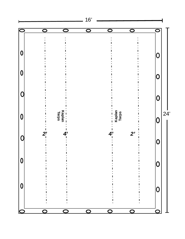 16′ x 24′ Steel Tarp