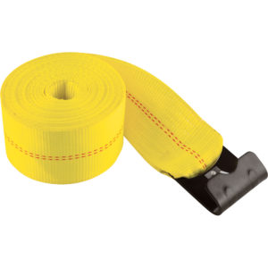 Winch strap with flat hook sold by Kaplan Tarps & Cargo Controls