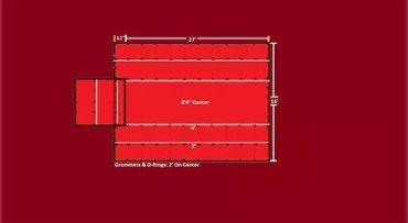 Set(2) 8′ Drop: Light Wt 24'x27′ Lumber Tarps