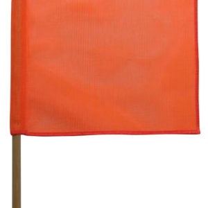 Orange PVC flag with dowel sold by Kaplan Tarps & Cargo Controls