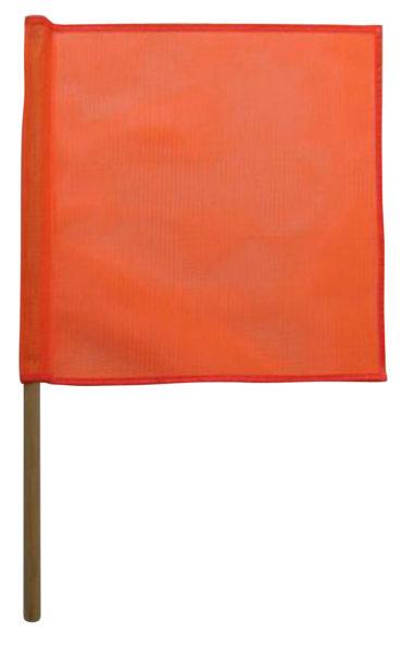 18″ x 18″ Orange PVC Coated Flag with Wood Dowel