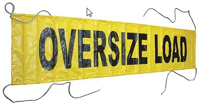 "Canvas OVERSIZE LOAD Banner 18"" x 84"""