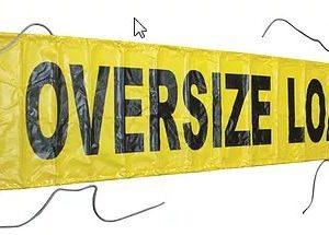 """Vinyl OVERSIZE/WIDE LOAD 18"""" x 84"""" (Reversible)"""