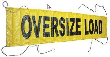 Vinyl OVERSIZE/WIDE LOAD 18″ x 84″ (Reversible)
