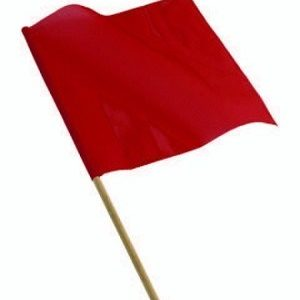 Red vinyl flag with dowl sold by Kaplan Tarps & Cargo Controls