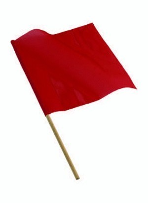 18″ x 18″ Red Mesh Flag with Dowel (Fluorescent)