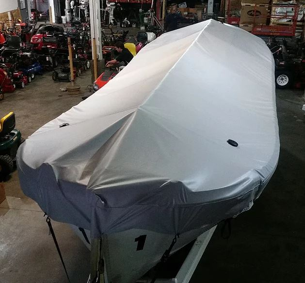 Boat weather cover repairs by Kaplan Tarps & Cargo Controls
