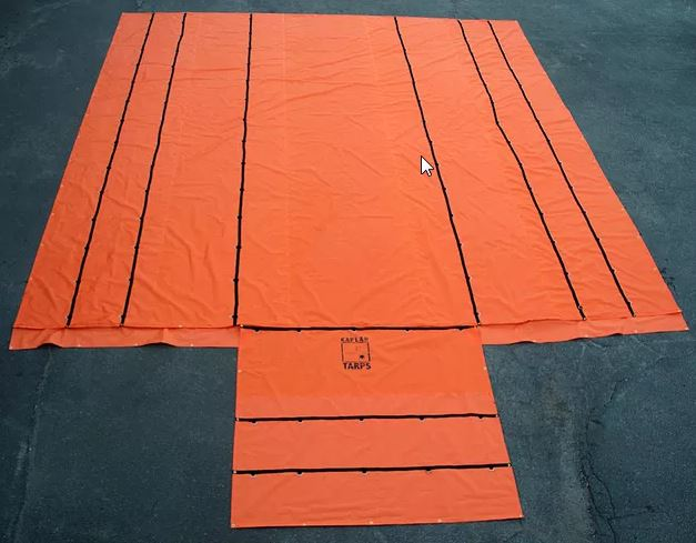 Custom Orange Lumber Tarp