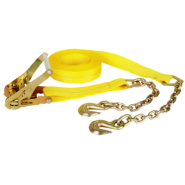 2″ x 30′ Ratchet Strap with Chain Anchor