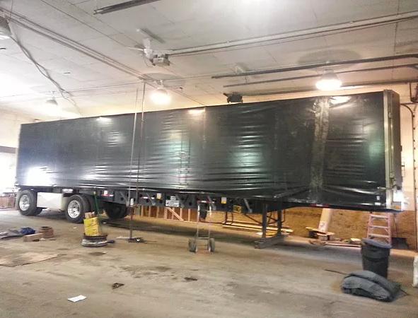 Tarp repair with Kaplan Tarps & Cargo Controls