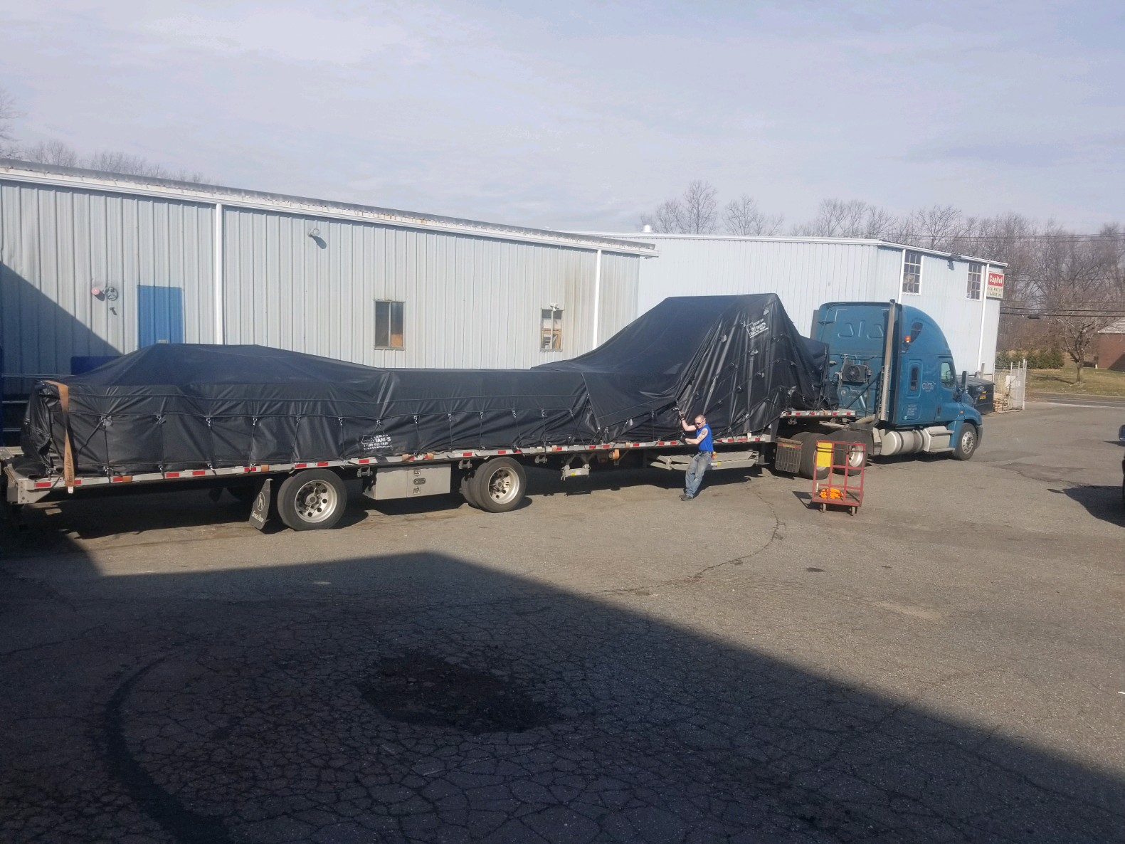 Load covered with new Lumber Tarps