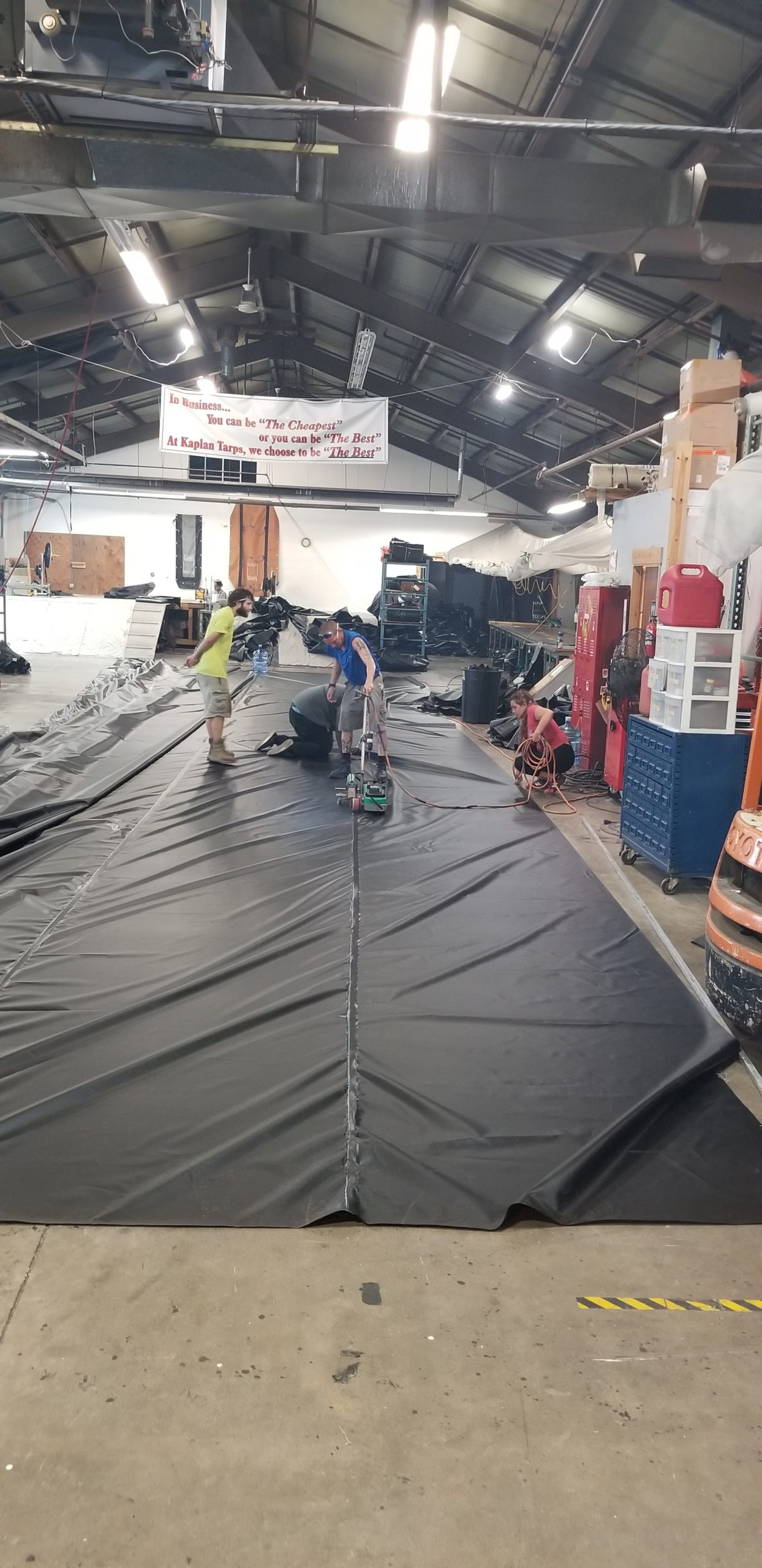 Emergency Tarps after storm Isaias