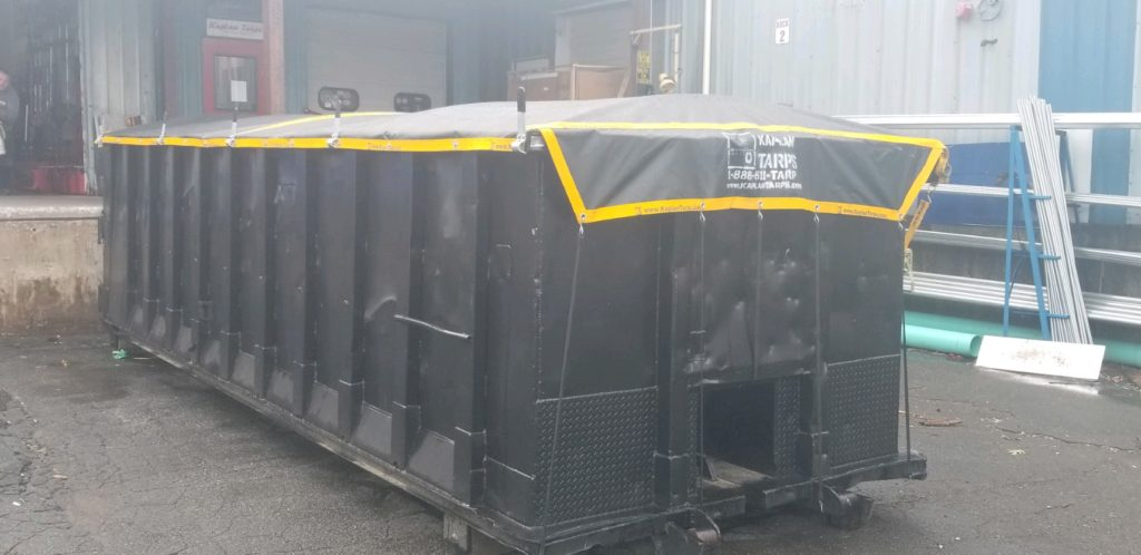 Kaplan Tarps manufactures and installs covers for Roll Off containers!!